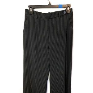 MAX MARA Black Gray Pinstriped Trousers Size 4